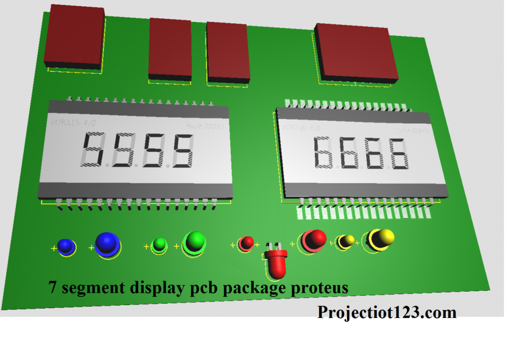 7 segment display pcb package proteus