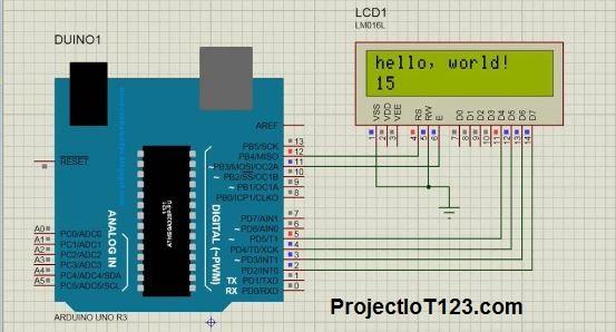 arduino proteus simulation,Arduino and LCD simulation in Proteus,Arduino Library for Proteus