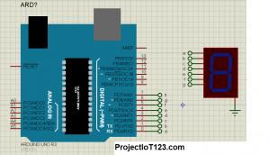 seven segment arduino proteus simulation, arduino proteus simulation