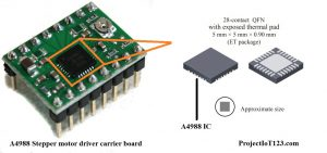 A4988 Stepper Motor Driver,A4988 pinout,A4988 Stepper Motor Diagram