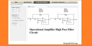 Operational Amplifier Active High Pass Filter, High Pass Filter, High Pass Filter circuit