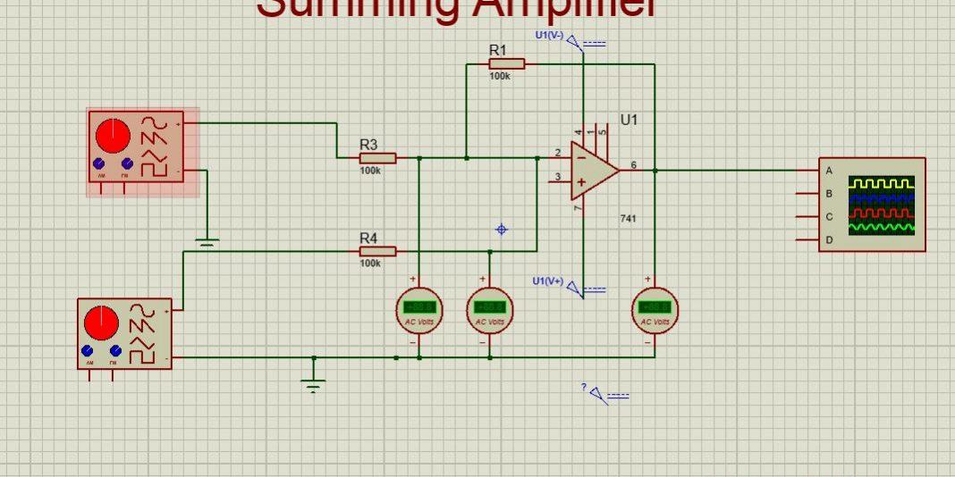 Pleasing Operational Amplifier As The Summing Amplifier Projectiot123 Wiring Digital Resources Unprprontobusorg