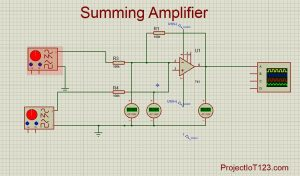 Operational Amplifier as the Summing Amplifier, Summing Amplifier,Summing Amplifier circuit diagram,Summing Amplifier lm741