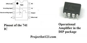 Pinout of the Operational Amplifier,Operational Amplifier IC Package,what is op amp 741