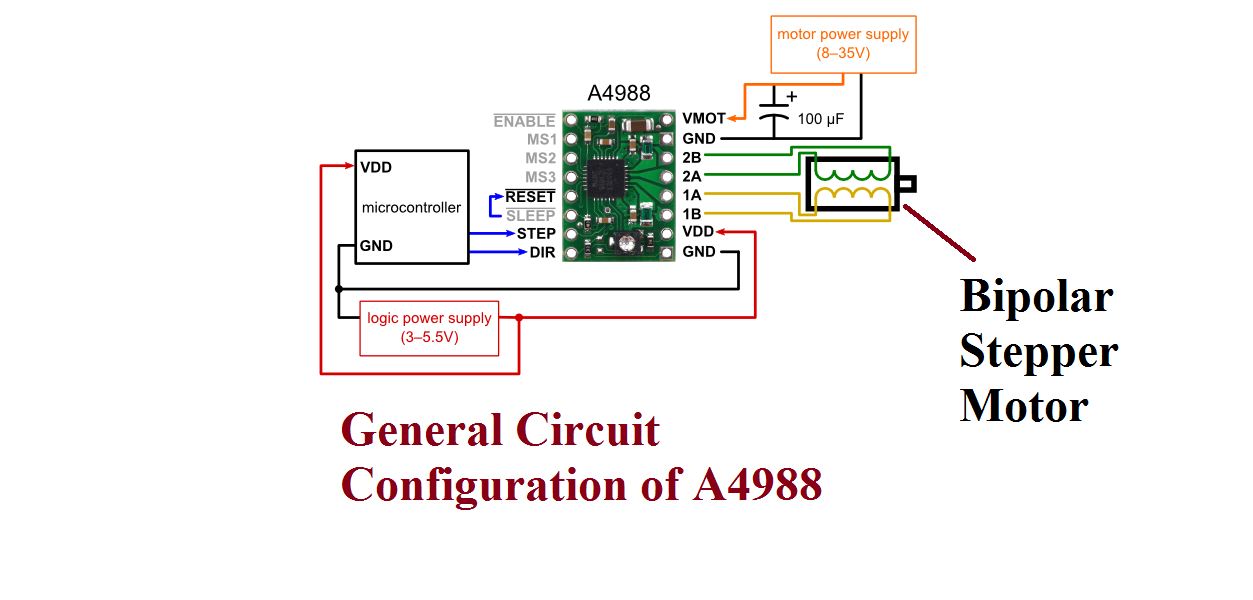 4 Wire Stepper Motor Driver Circuit
