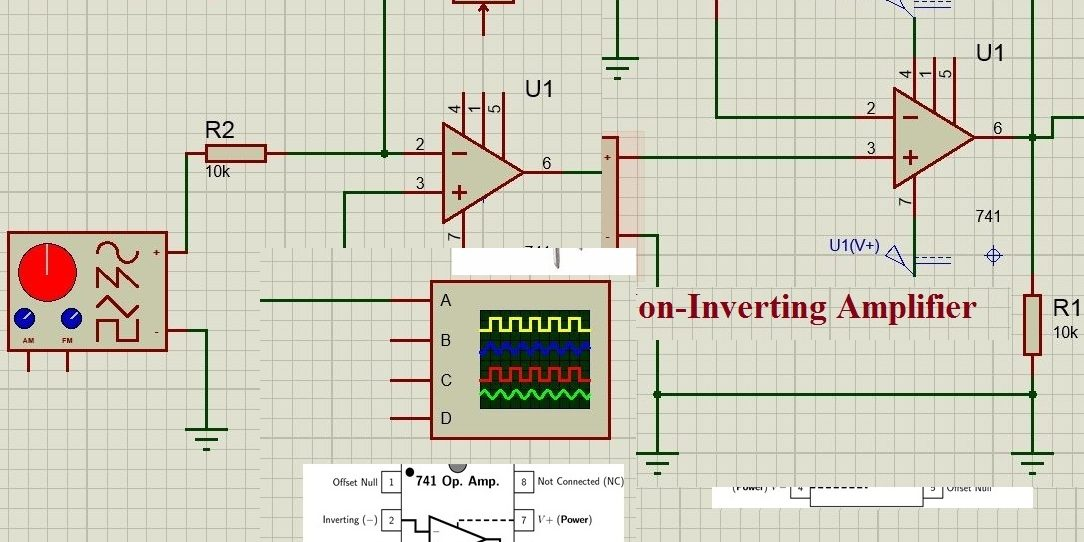 inverting amplifier and non inverting amplifier