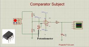 op amp as a comparator,comparator applications,comparator circuit design,comparator circuit using ic 741