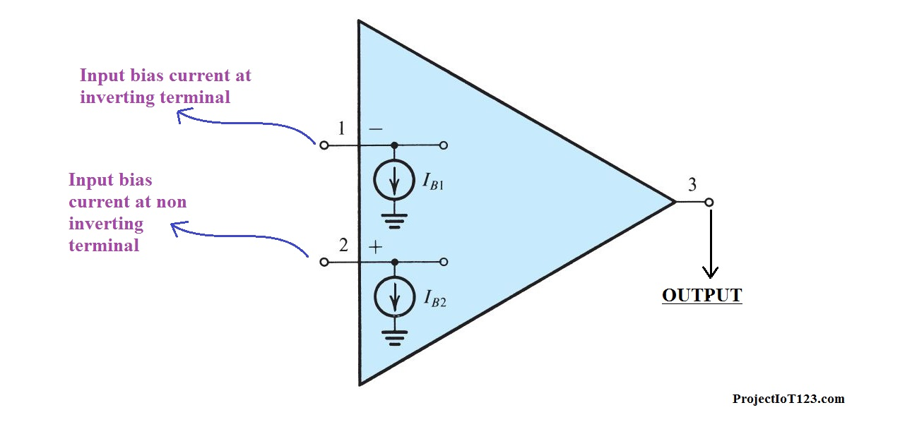 op amp input bias current and offset current