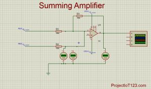 simulation Summing Amplifier,op amp Summing Amplifier