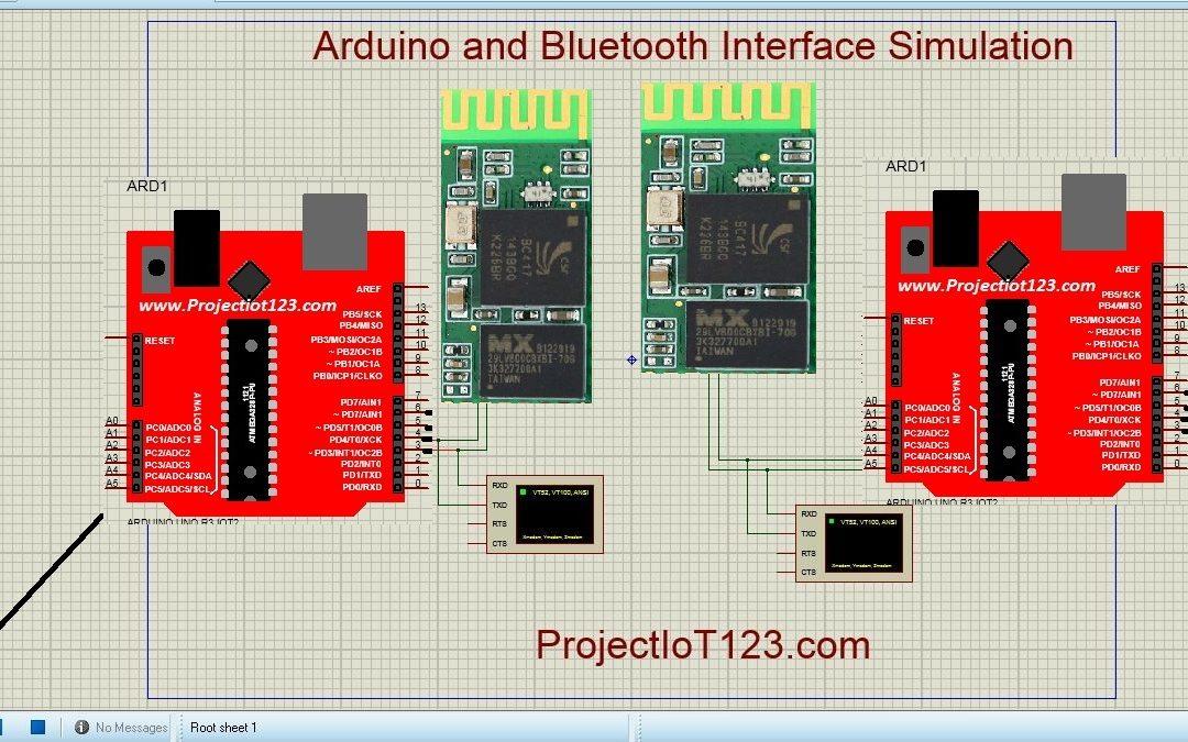 Bluetooth Module Simulation in Proteus