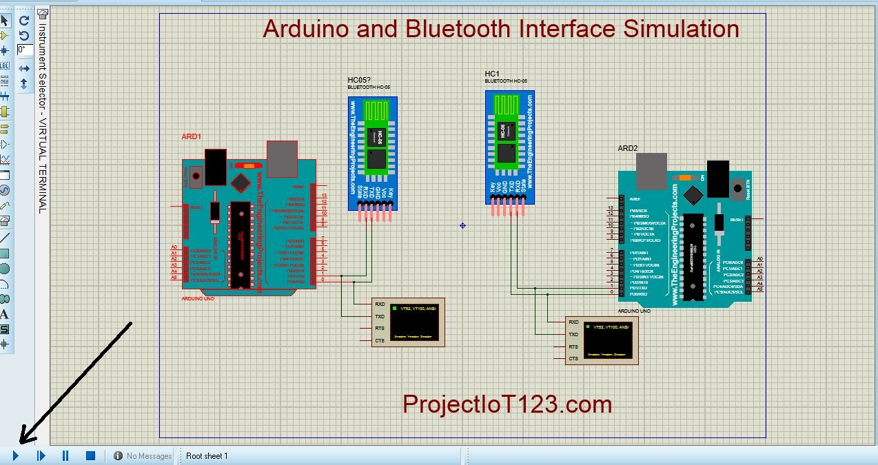 Bluetooth Module Simulation in Proteus - projectiot123 Technology