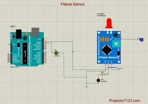Flame Sensor Library in the Proteus,Flame Sensor in the Proteus,Flame Sensor Circuit,Flame Sensor