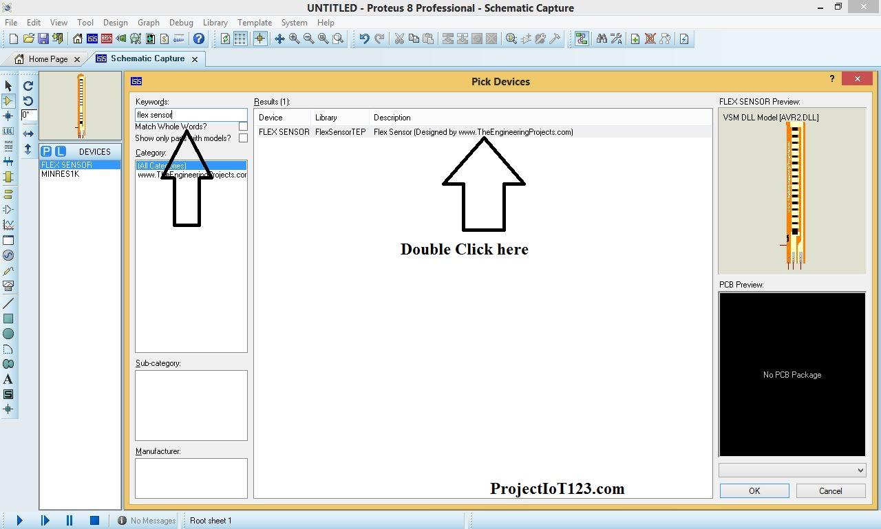 flex sensor library for proteus - projectiot123 Technology