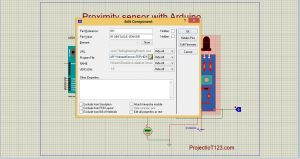 HEX file of the Arduino,Proximity Sensor simulation in Proteus