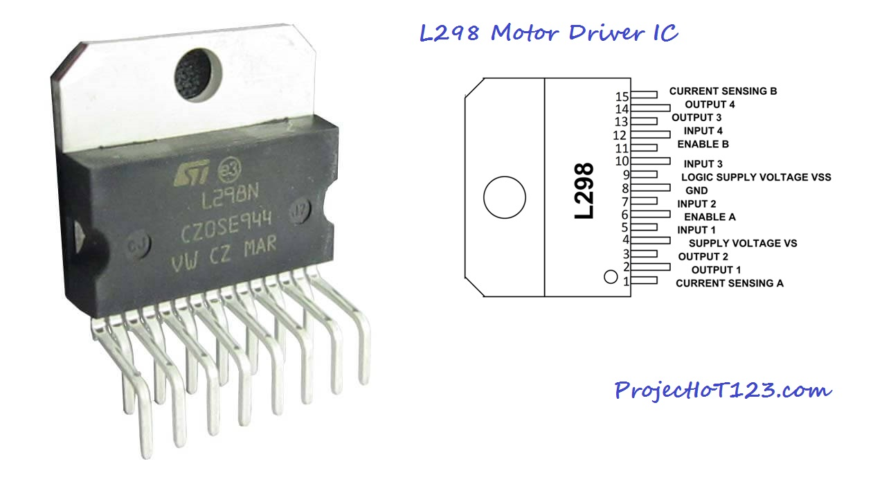 L298 Motor Driver Simulation in Proteus - projectiot123