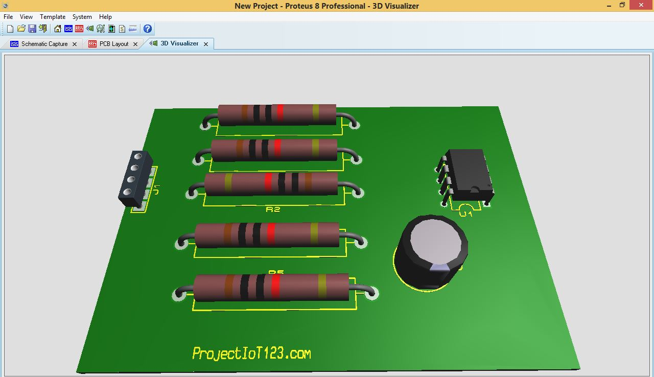PCB Design in Proteus - projectiot123 Technology Information