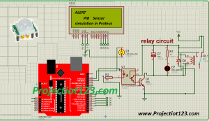 PIR Sensor simulation in Proteus