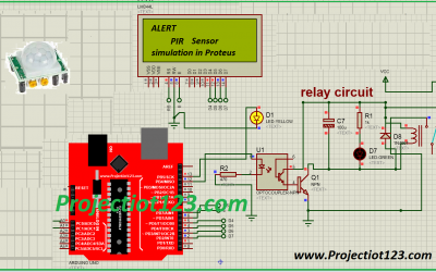PIR sensor library for proteus