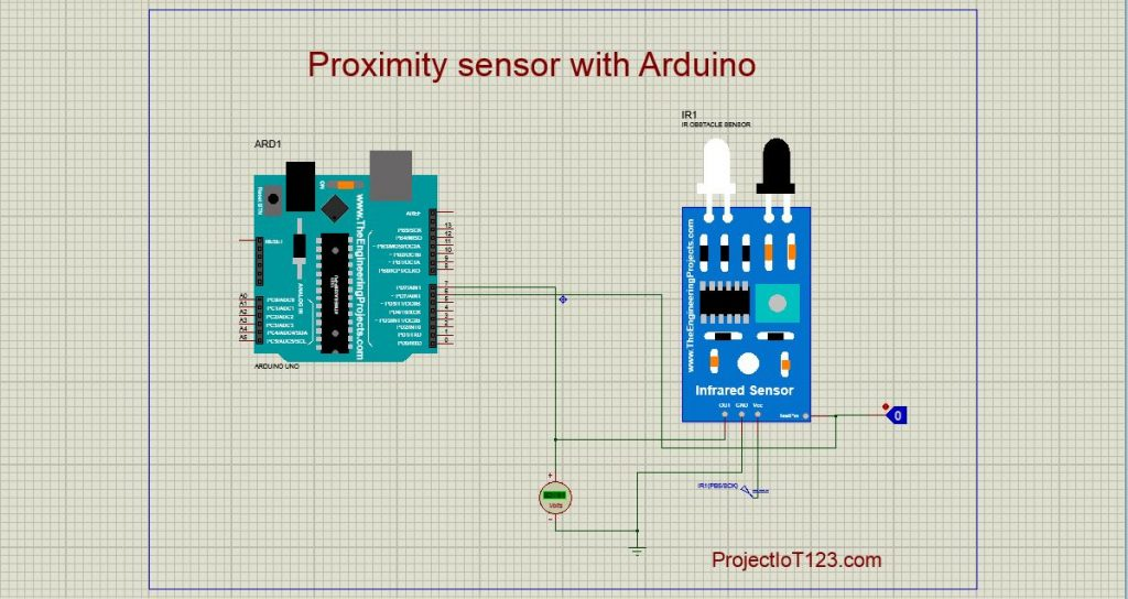 Proximity Sensor simulation in Proteus,ir Sensor simulation in Proteus
