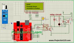 Proximity Sensor simulation in Proteus