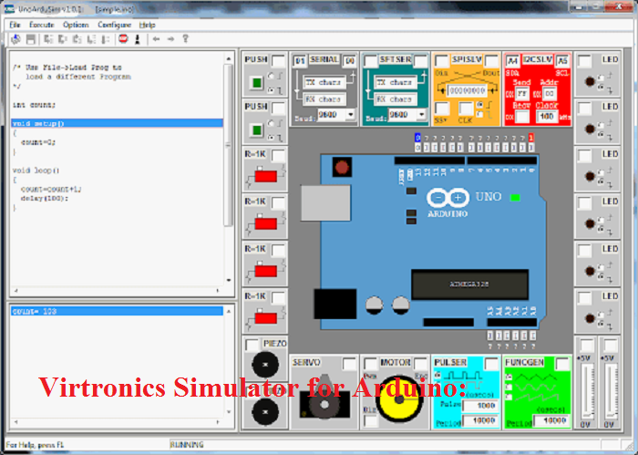 Virtronics Simulator for Arduino Simulator