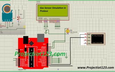 Gas Sensor Simulation in Proteus