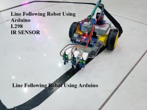 Line Following Robot Using Arduino,Line Following Robot L298,Line Following Robot Using Arduino IR SENSOR