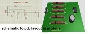 schematic to pcb layout in proteus,PCB Design in Proteus