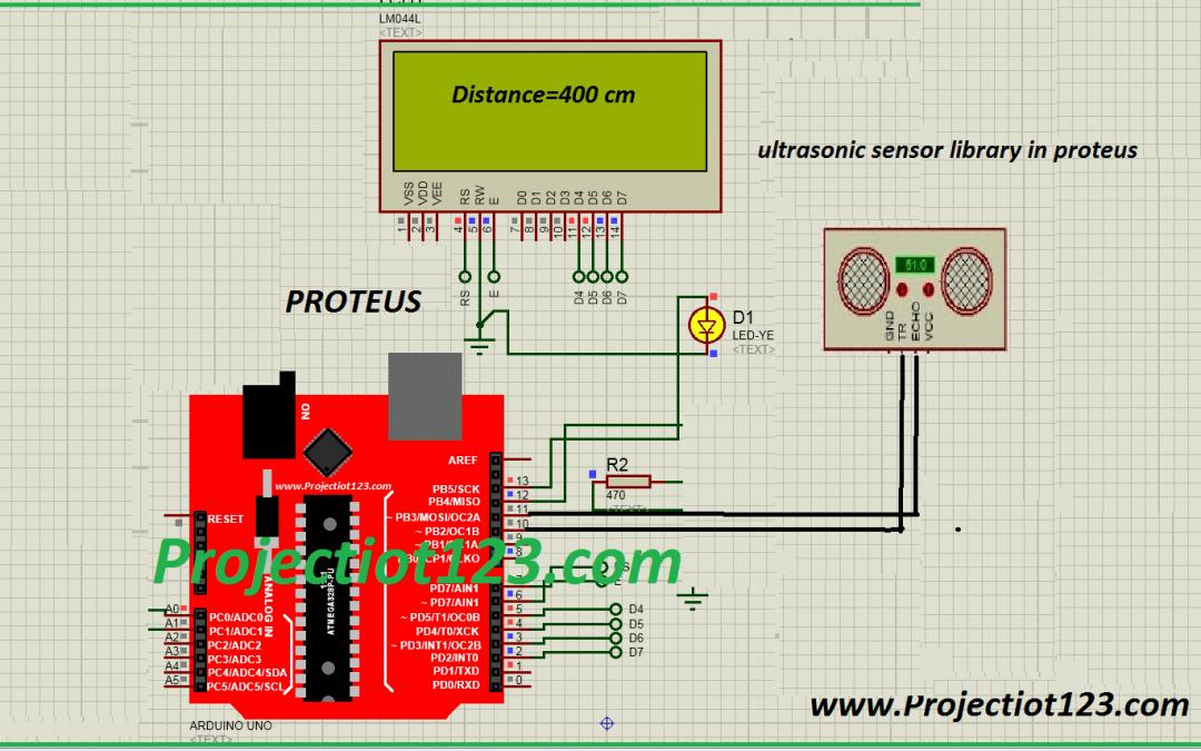 ultrasonic sensor library in proteus