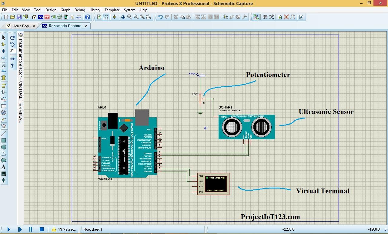 Ultrasonic sensor arduino library code