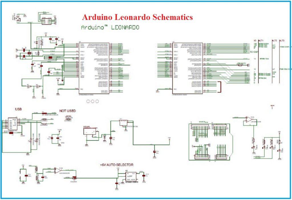Arduino Leonardo Schematics