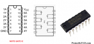 not gate ic number,not gate ic 74hc04,74hc04 pinout