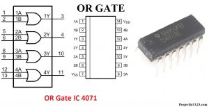 OR Gate IC 4071,or gate ic number