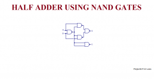 Half Adder Using NAND Gate