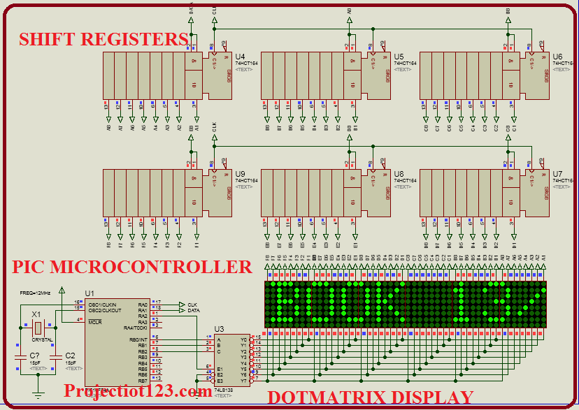 DOTMATRIX display pic microcontroller