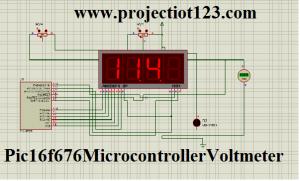 Pic 16f676 Microcontroller Voltmeter,pic voltmeter 7 segment