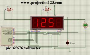 pic16f676 voltmeter,pic voltmeter 7 segment,Pic16f676 adc c code
