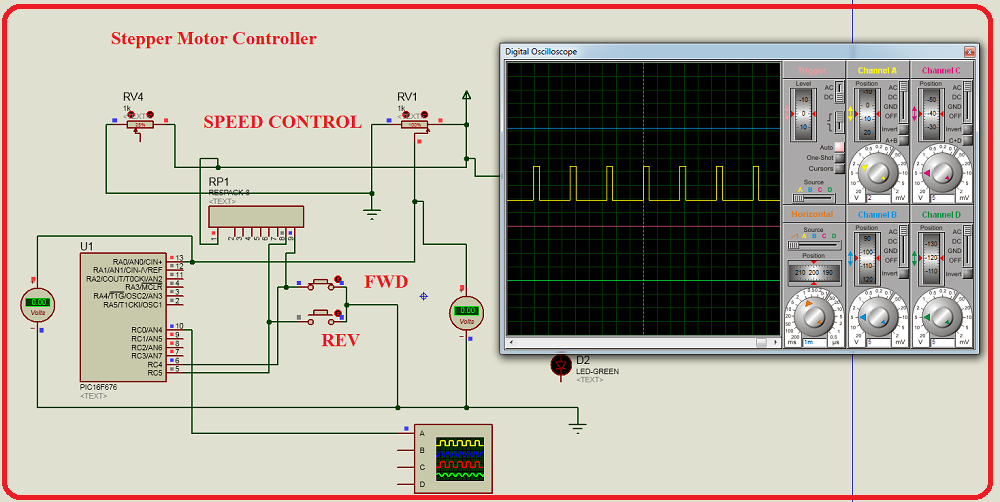 stepper motor control,motor control using pic