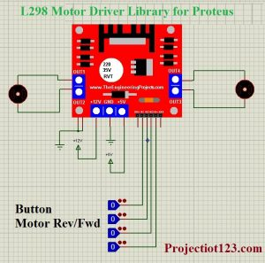 L298 Motor Driver Library for Proteus