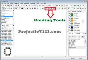 Routing Tools in Diptrace,pcb design software diptrace