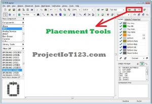 Placement Tools in Diptrace,pcb design software tutorial