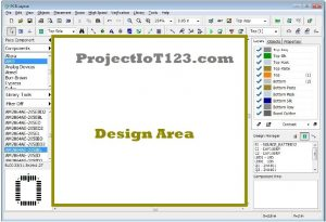 design Area in Diptrace,software diptrace tutorial