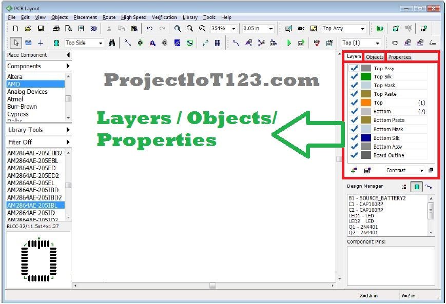 Pcb Design Software Diptrace Tutorial Projectiot123 Technology Information Website Worldwide