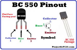BC550 Pinout,BC550