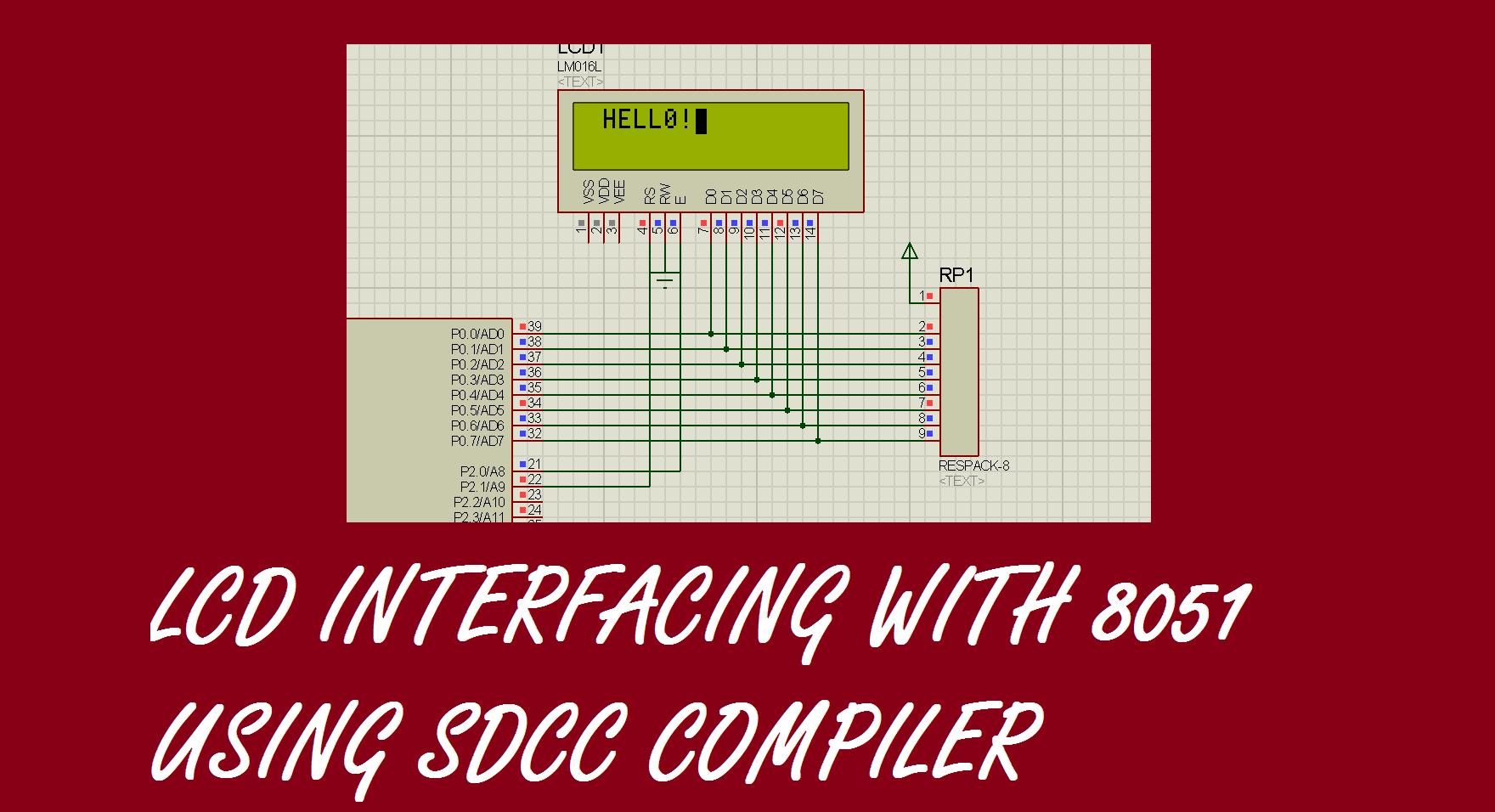 8 bit lcd interfacing with 8051