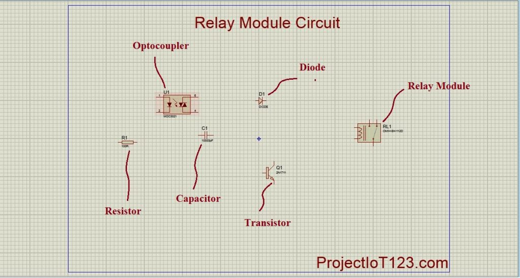 Relay Module Simulation in Proteus
