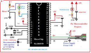 pic18f4550 usb circuit