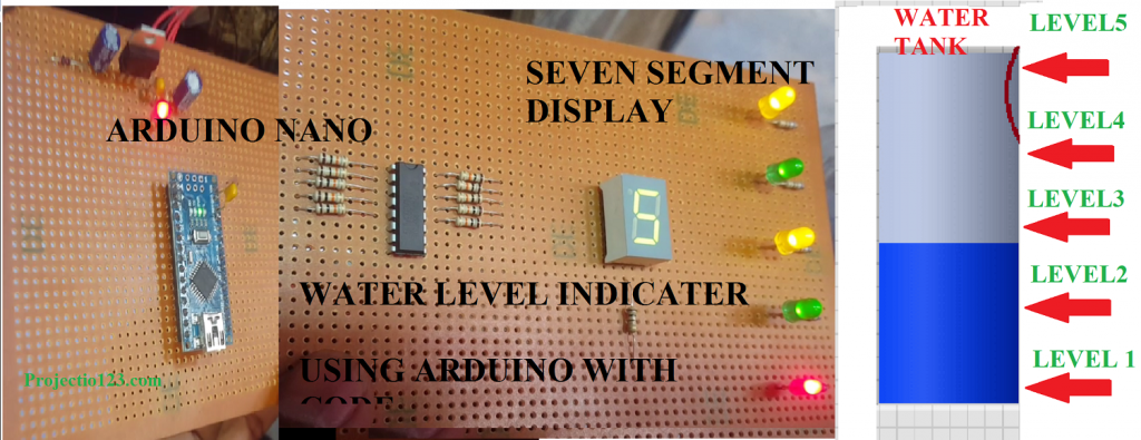 Water Level Indicator With Arduino,water level indicator circuit uln2003