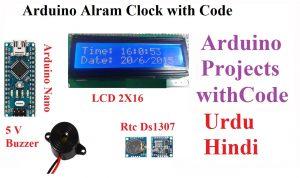arduino alarm clock using rtc ds1307,arduino projects,diy arduino project,arduino rtc ds1307 library
