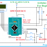 Arduino Alarm Clock using Rtc ds1307 Circuit Diagram